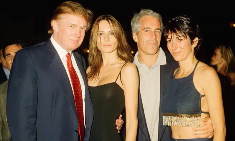 Donald Trump with wife Melania Trump, Jeffrey Epstein and Ghislaine Maxwell. Davidoff Studios/Getty Images